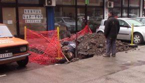 Sanacija kvara na toplovodu u Ulici Branka Radicevica